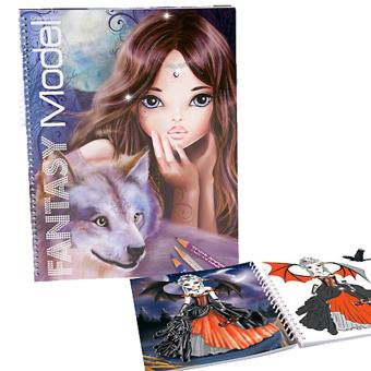 Album coloriage fantasy top model wolf kit cr atif - Album de coloriage top model ...