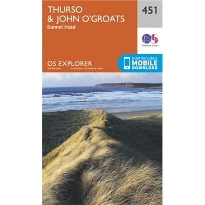 Os Explorer Map (451) Thurso And John O'Groats (Map)