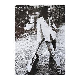 bob marley poster geant noir et blanc guitare poster affiche enroul top prix fnac. Black Bedroom Furniture Sets. Home Design Ideas
