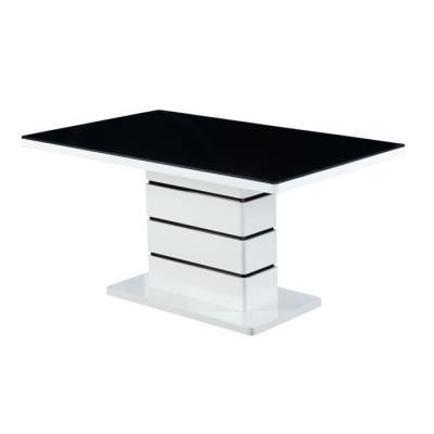 Lucia Table De Séjour 150 Cm Noir/Blanc