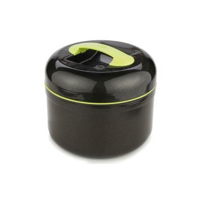 Boite repas isotherme - Noir et vert - Grande lunch box - 1.5 L