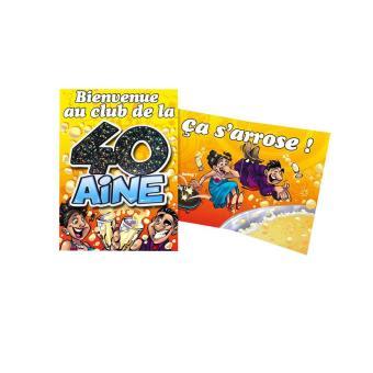 Carte Anniversaire 40 Ans Article De Fete Achat Prix Fnac