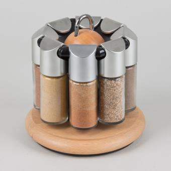 emsa pr sentoir epices avec 8 pots h tre 2502082690 galerie achat prix fnac. Black Bedroom Furniture Sets. Home Design Ideas