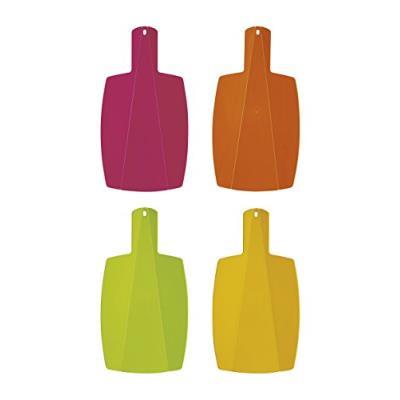Excelsa rainbow planche à découper pieghievole, plastique, rose/orange/jaune/vert, 40 x 21,5 x 0,5 cm