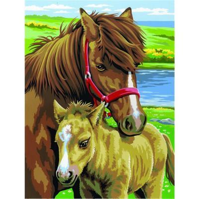 Oz International - Peinture au numéro - Débutants - Duo : Chevaux