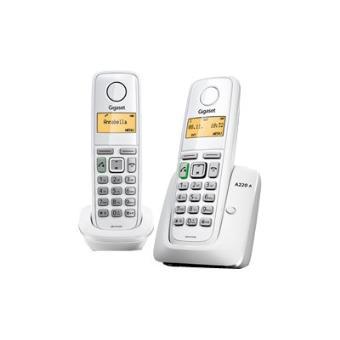 gigaset a220a duo t l phone sans fil syst me de r pondeur avec id d 39 appelant combin. Black Bedroom Furniture Sets. Home Design Ideas
