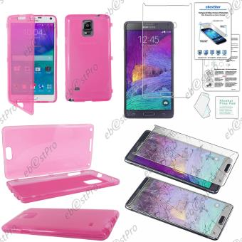 ebestStar ® pour Samsung Galaxy Note 4 N910F - Housse Etui Coque Portefeuille Silicone Gel, Couleur Rose