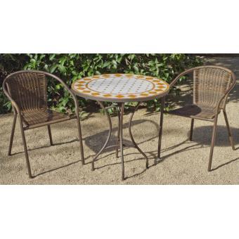 HEVEA - Table de jardin ronde \