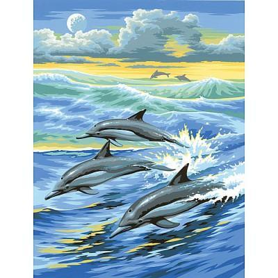 Oz International - Peinture au numéro - Débutants : Dauphins