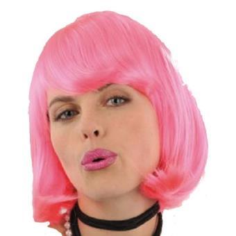 Mondial-fete - Perruque charleston rose