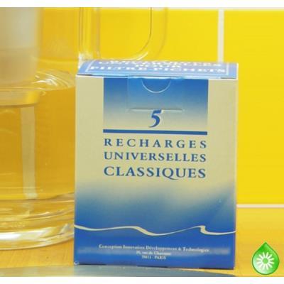 5 recharges filtrantes HYDROPURE (filtre Classique)