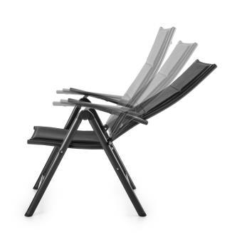 20EUR Sur Blumfeldt Stylo Royal Black Chaise De Jardin Pliante Aluminium Noir