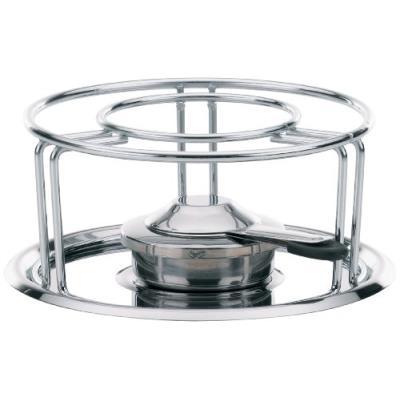 Kela 60127 réchaud pour fondues et wok, métal chromé, diamètre 23,5 cm, hauteur 10,5 cm 'maxi'