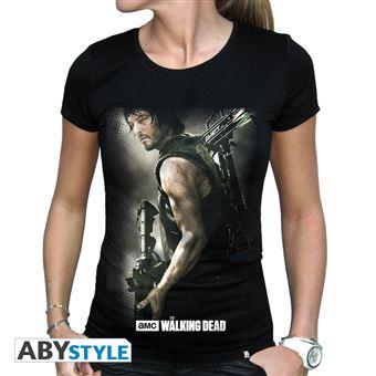 t shirt femme walking dead daryl