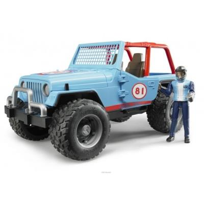 Bruder - 02541 - jeep cross country racer avec conducteur - bleu