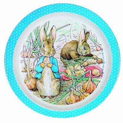 Assiette bébé bleue peter rabbit