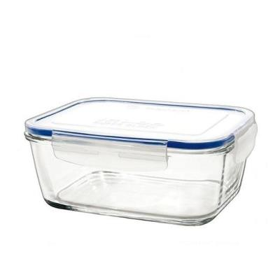 Unbranded 8012722 superblock boîte rectangulaire avec couvercle verre transparent 15,5 x 15,5 x 7,3 cm 80 cl quiselle szpo 014