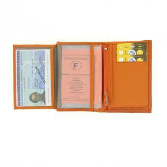 Portefeuille en Cuir 12 x 9 x 2cm Orange