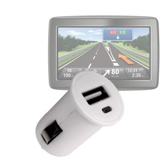 chargeur voiture usb 1 amp pour gps tomtom one iq routes. Black Bedroom Furniture Sets. Home Design Ideas