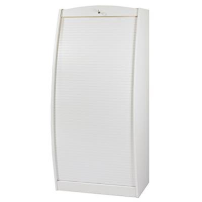 Blanc SIMMOB Armoire Informatique Largeur 60 cm Galb/ée Blanche Bois