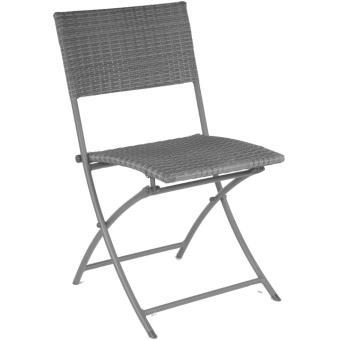 Proloisirs - Chaise pliante résine tressée (Lot de 2 ...