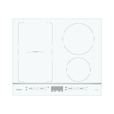 Sauter SPI4664W - Table de cuisson à induction - 4 plaques de cuisson - Niche - largeur : 56 cm - profondeur : 49 cm - avec garnitures en aluminium anodisé - blanc