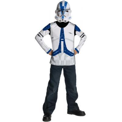 Kit Costume Clone Trooper Légion 501 star Wars pour enfant - 8-10 ans