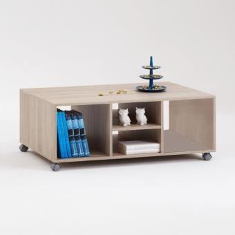 Harry Table Basse Roulettes Coloris Chene Achat Prix Fnac