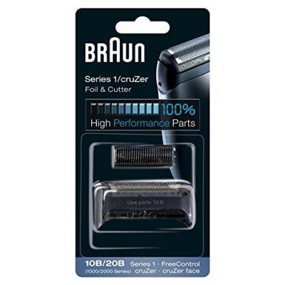 Braun pièce de rechange 10b 20b noire pour rasoir compatible avec les rasoirs cruzer et series 1