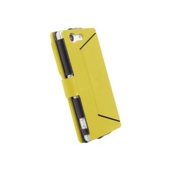 Walk On Water DropOff - Flip cover voor mobiele telefoon - polyurethaan - geel - voor Sony XPERIA Z3 Compact
