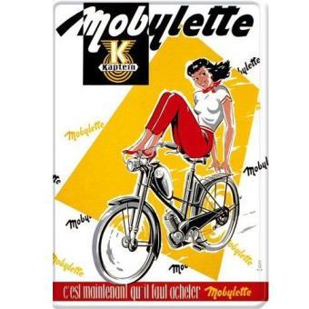 PLAQUE METAL 40X30cm PUB ANCIENNE DE LA MOBYLETTE KAPTEIN
