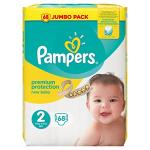 Pampers - new baby - couches taille 2 (3-6 kg/mini) - pack jumbo (x68 couches)