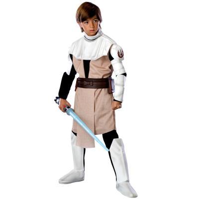 Déguisement Deluxe Obi-Wan Kenobi Star Wars - Clone Wars Enfant-Enfant-5/7 ans (108 à 120cm)