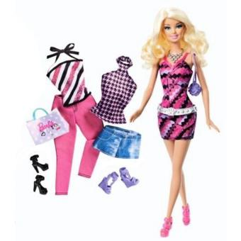 v tements pour poup e barbie fashionistas tenues. Black Bedroom Furniture Sets. Home Design Ideas