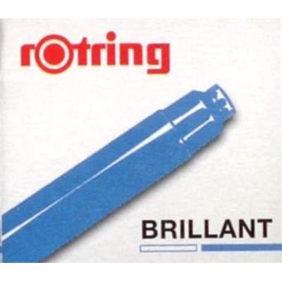 6 cartouches dencre pour stylo - bleu brillant rotring s0194681