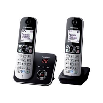 Téléphone fixe PANASONIC KXTG6822GB NOIR DUO AVEC REPONDEUR