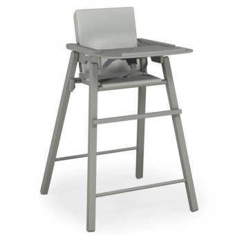 hetre chaise At4 haute uni pvc gris en pliante coussin gris vmnN08wO