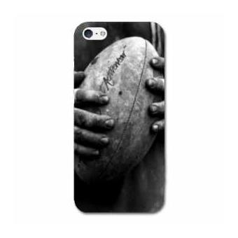 coque iphone 5C Rugby ballon vintage N