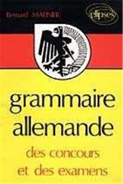 grammaire allemande des concours et des examens
