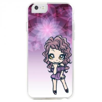 Coque rigide pour Apple iPhone 6S avec impreion Motifs manga fille violetta