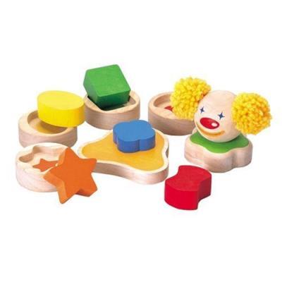 Plantoys - pt5356 - jeu educatif - clown en bois à empiler