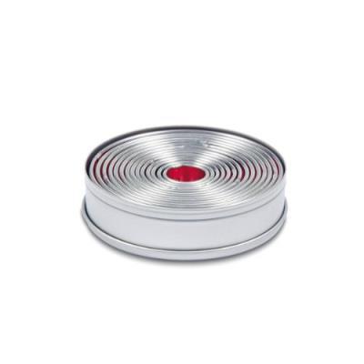 Städter 009073 lot de 14 emporte-pièce en fer-blanc de 2,5 à 11,5 cm