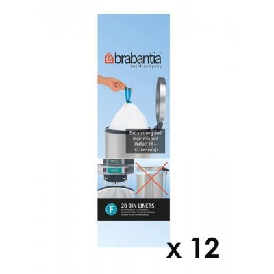 Brabantia - Lot De 11 Rouleaux De 20 Sacs Poubelle F Slimline 20 Litres + 1 Offert 245305