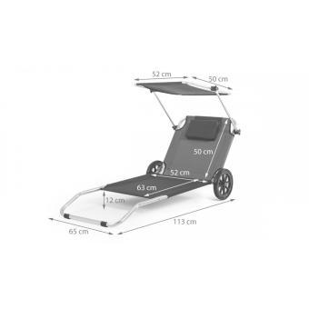 Malibu Transat Chaise De Plage Pliable Parasol Integre Bleu Mobilier De Jardin Achat Prix Fnac