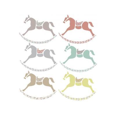 Stickers muraux Petits chevaux de bois - Dim.Frise 120 x 12 cm