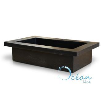Vasque à poser ou à encastrer rectangulaire xxl en terrazzo ...