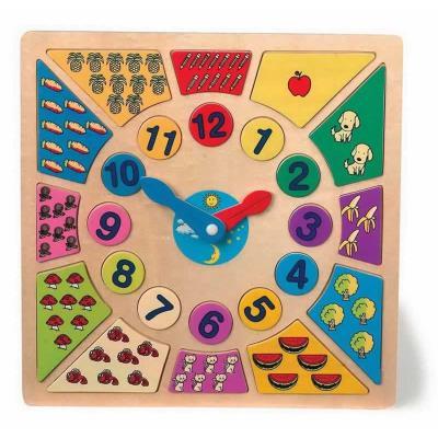 Horloge pour apprendre l'heure en bois Clara