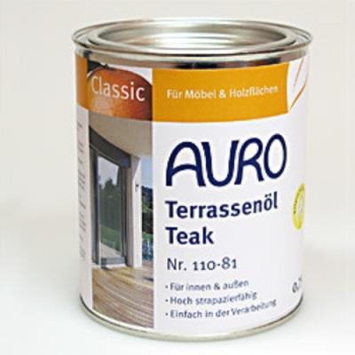 Huile pour terrasse, couleur Teak n°110-81 AURO