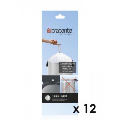 Brabantia - Lot De 11 Rouleaux De 10 Sacs Poubelle H 50 Litres + 1 Offert 246784