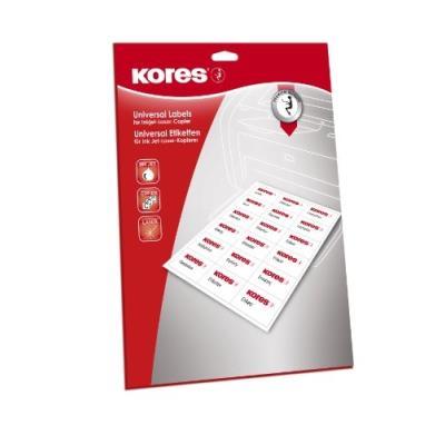 Kores etiquettes pour cd diamtre 117 mm blanches gp lcd2.25